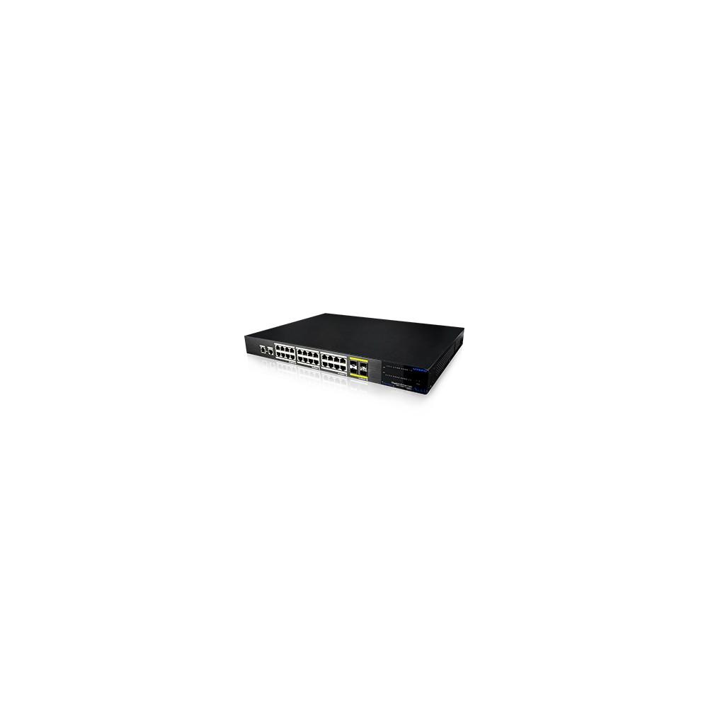 24 Gigabit Ports & 4*10Gigabit Managed Ethernet Switch